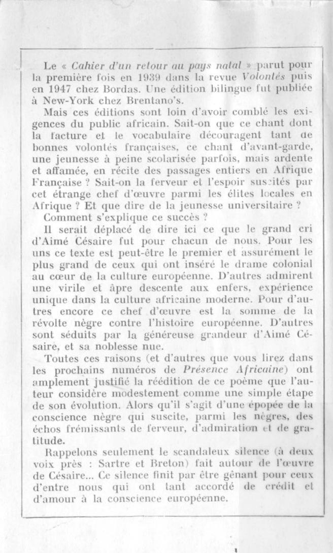 Aimé Césaire La Quête Du Nègre Fondamental Pluton Magazine