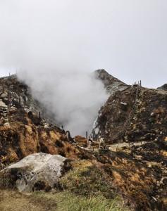 Gouffre Tarissan du volcan de la Soufrière en Guadeloupe.