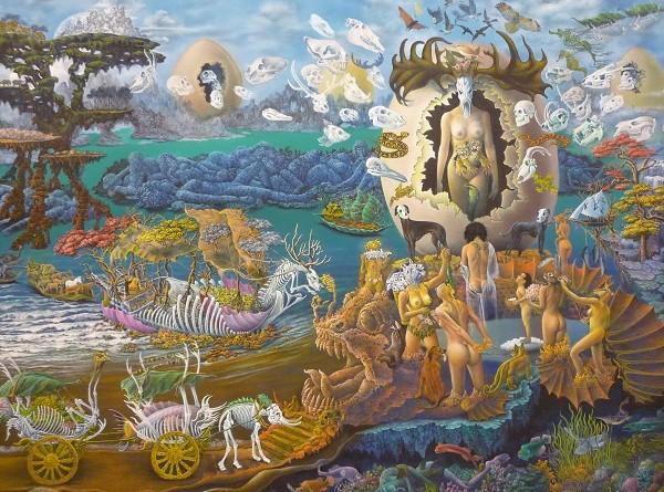 """Goddess of Belief"", huile sur canevas de Sompong Adusarabhan (c) Ph. Triay"