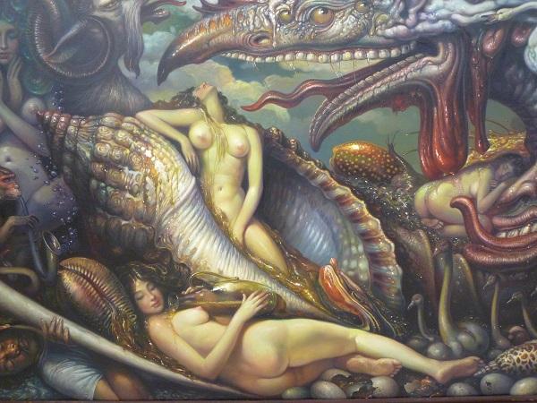 """Fantasy Land 2"", huile sur canevas de Prateep Khotchabua (c) Ph. Triay"