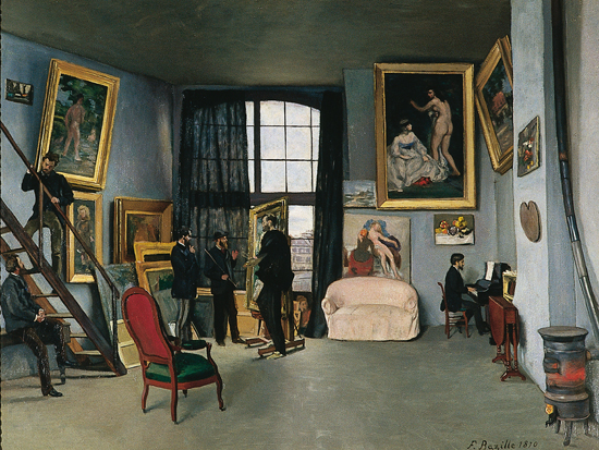 L'atelier de Bazille, rue de la Condamine 1870